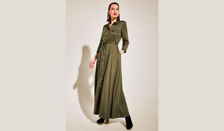 vestido-verde-kaki-camisero-cortefiel