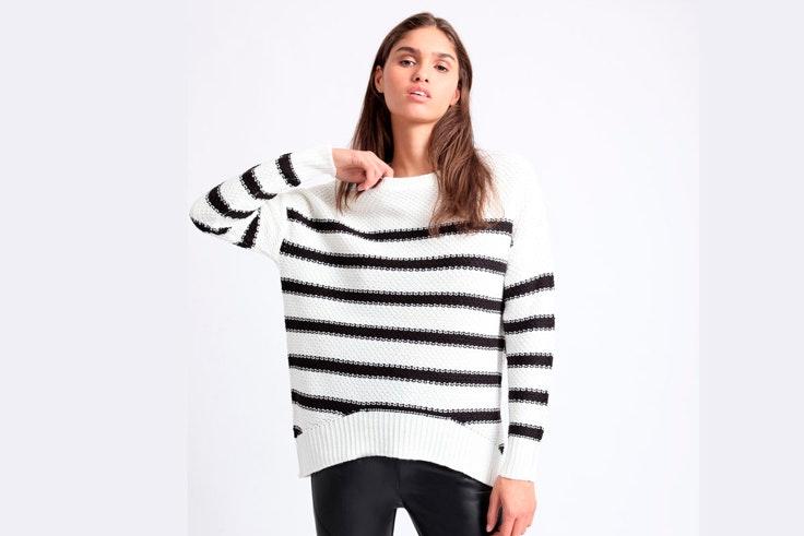 jersey-de-punto-rayas-blanco-negro-pimkie