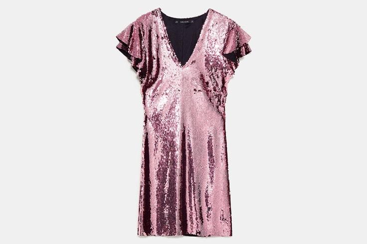 vestido-corto-lentejuelas-rosas-zara
