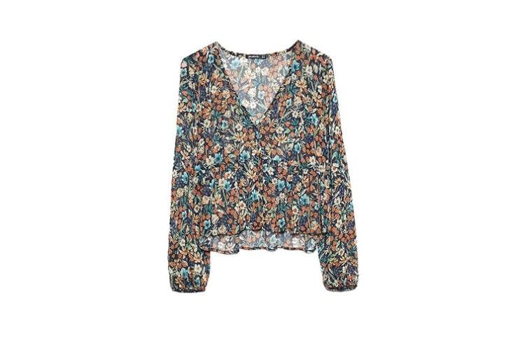 rebajas stradivarius camisetas y blusas flores