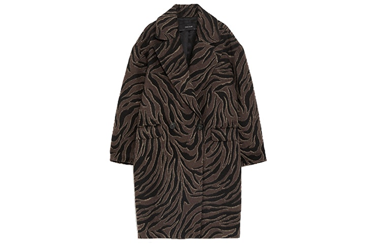 Abrigo estampado animal (39,99€) de ZARA