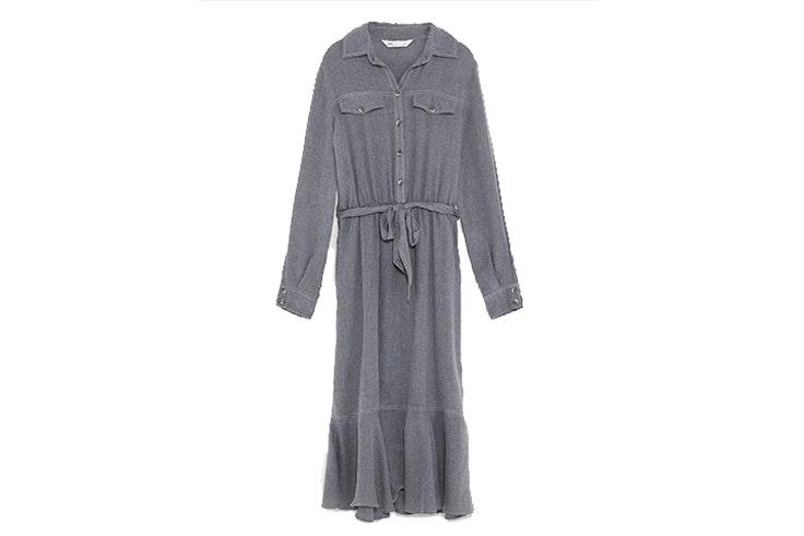 Vestido cinturón (12,99€) de ZARA
