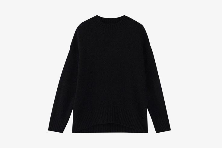 jersey-negro-punto-massimo-dutti