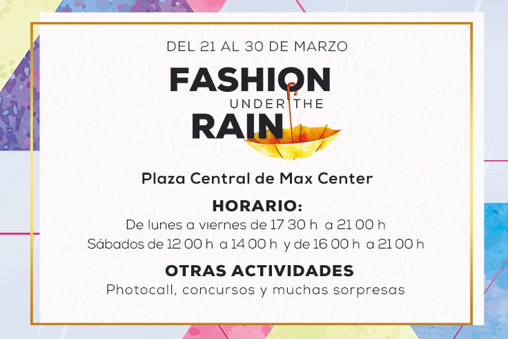 actividades fashion under the rain