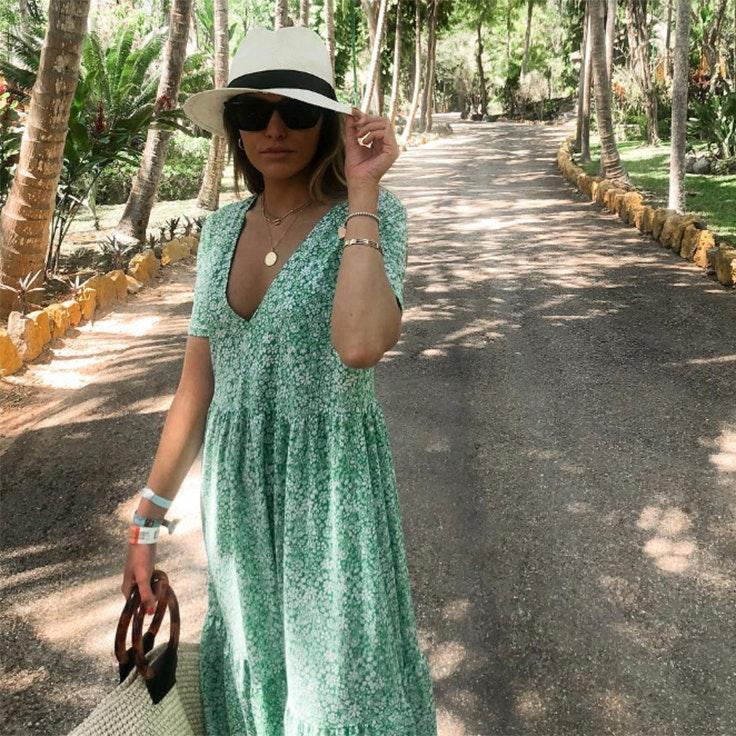 paula-cremades-estilo-instagram-vestido-verde-zara