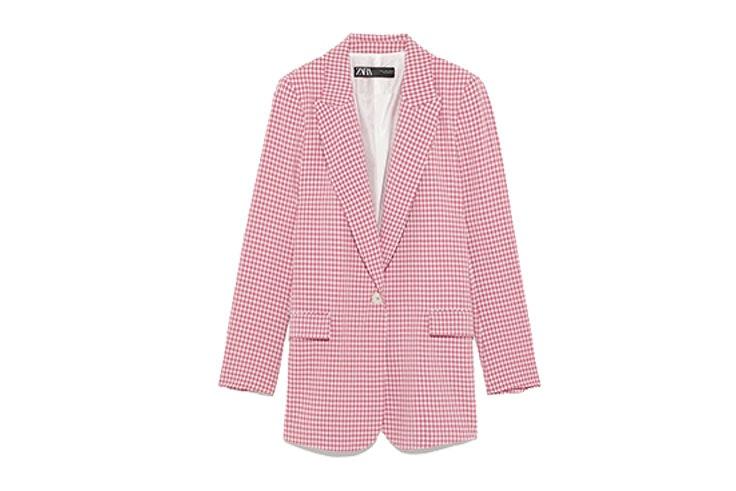 Traje-rosa-de-cuadros-vichy-de-Zara-blazer