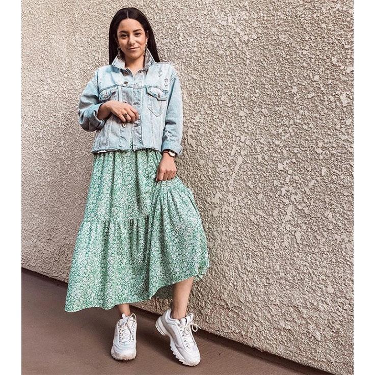 vanessa-barajas-whatvanessawears-estilo-instagram-vestido-verde-zara
