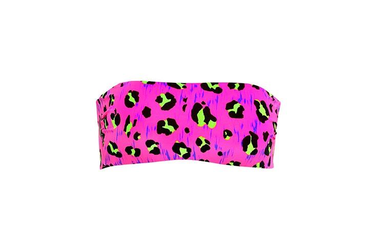 top bikini rosa estampado leopardo animal print calzedonia