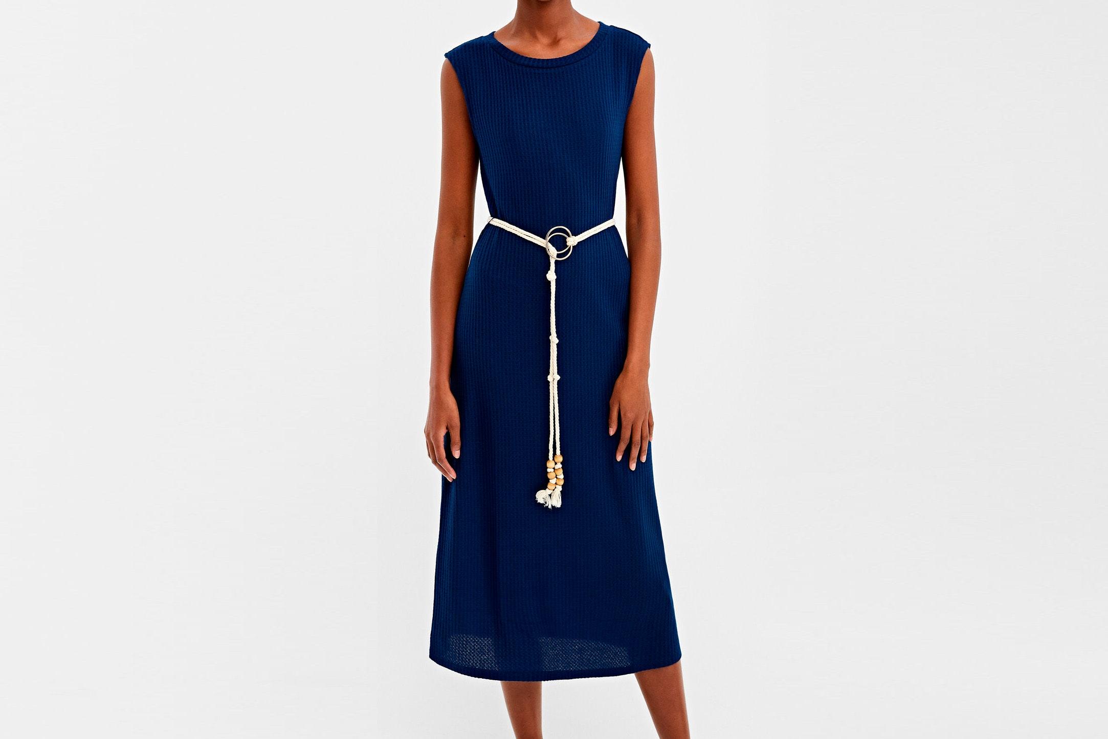 Vestido azul springfield