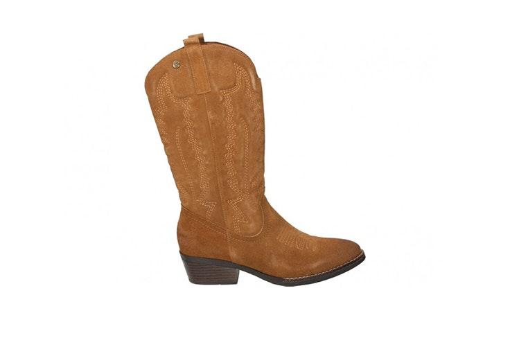 botas cowboy color camel loogo