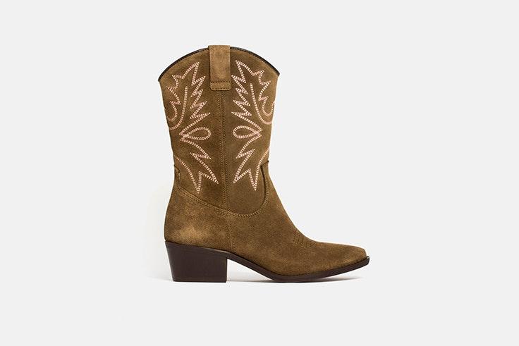 botas cowboy verde kaki vas