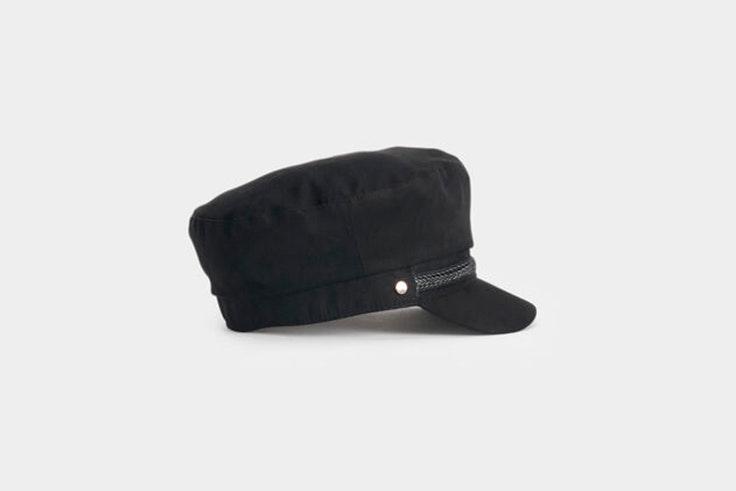 gorra boina negra visera parfois