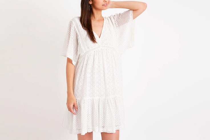 vestido corto blanco pimkie