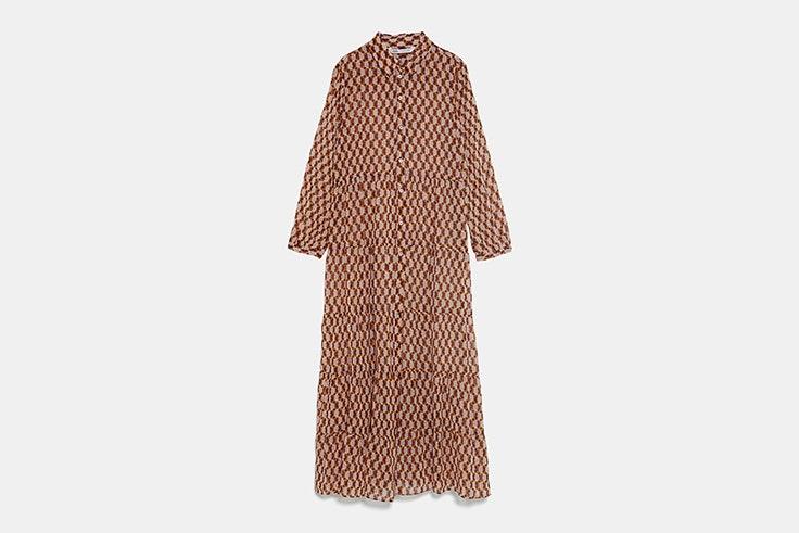 vestido largo zara esenciales de septiembre