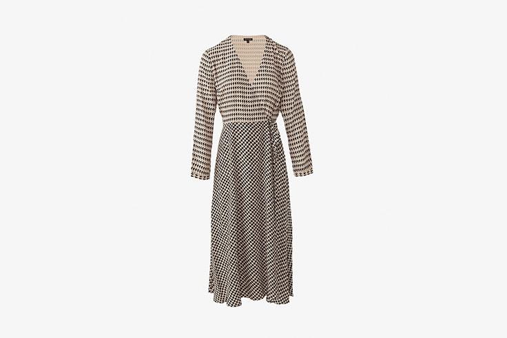 vestido largo pata de gallo massimo dutti esenciales de otoño