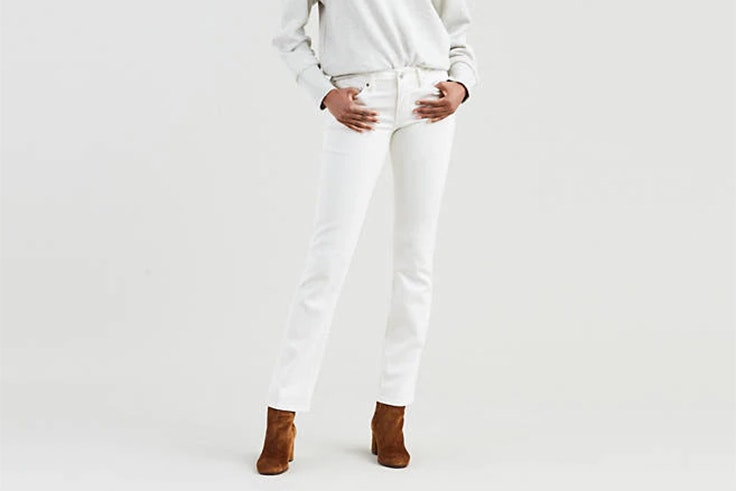 jeans blancos levis Malena Costa