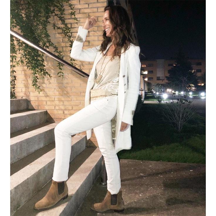 lydia bosch conjunto blanco estilo instagram