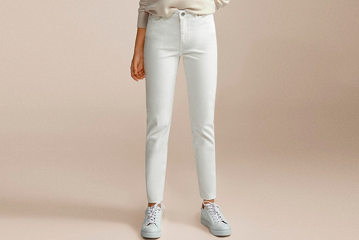 pantalon blanco pana cortefiel