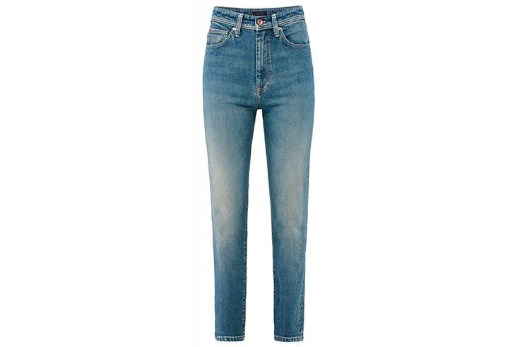 pantalon vaquero de talle alto efecto reductos de salsa jeans