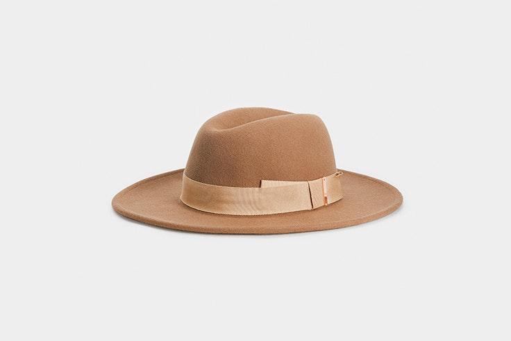 sombrero ala marron parfois