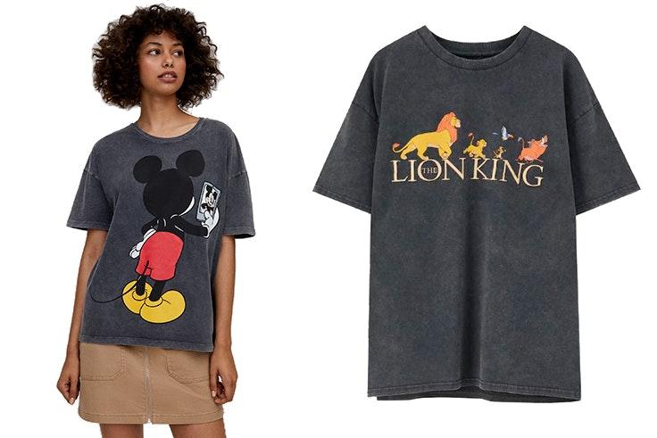 Camiseta Mickey Mouse selfie 12,99 € y Camiseta Rey León (12,99€) Pull&Bear