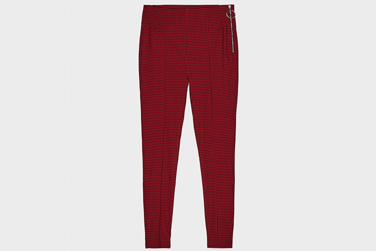pantalon rojo cuadros bershka