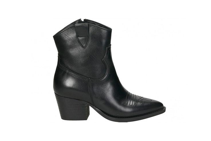 Botines de cowboy en color negro de Loogo