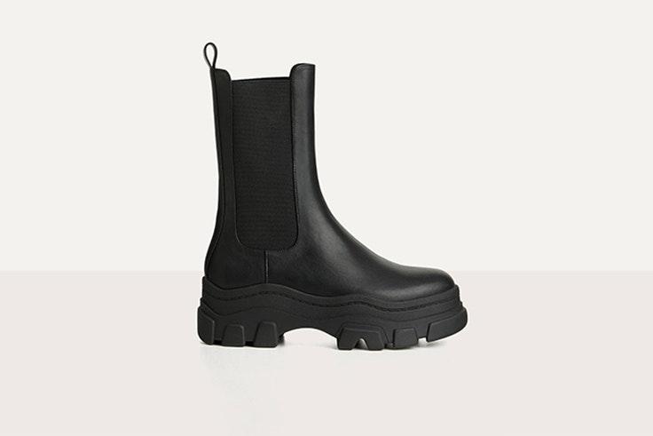 botines elasticos con plataforma track de bershka botas negras