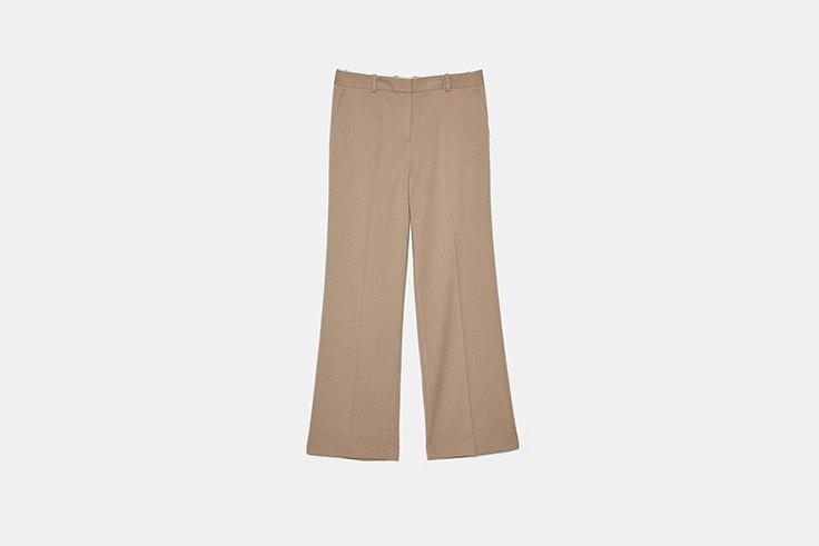 pantalon ancho masculino de traje de zara botas negras