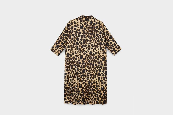 Vestido camisero con estampado animal de parfois vestidos de invierno