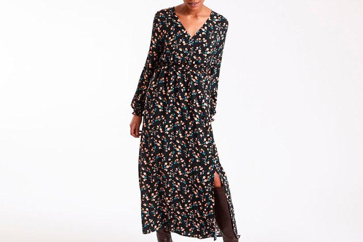 Vestido largo con estampado de flores de Pimkie
