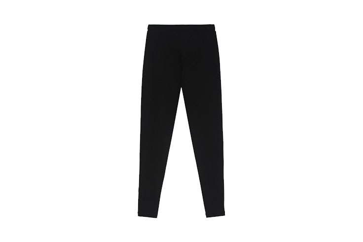 leggings basicos de algodon color negro de tezenis looks de deporte