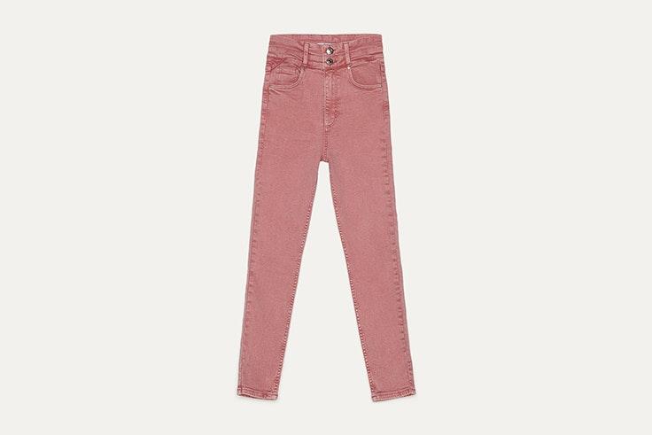 pantalon high waist rosa de bershka San Valentín