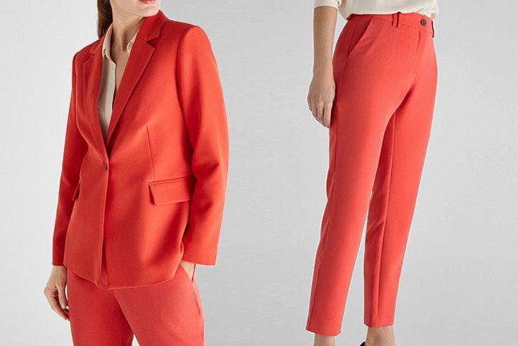 traje blazer pantalon de traje rojo de cortefiel San Valentín