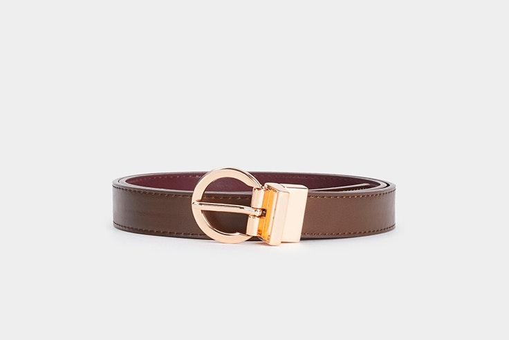 Cinturón marrón reversible de Parfois