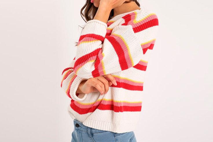 Jersey de rayas de colores de Pimkie
