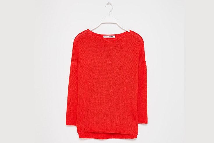 Jersey de punto en color rojo de Sfera