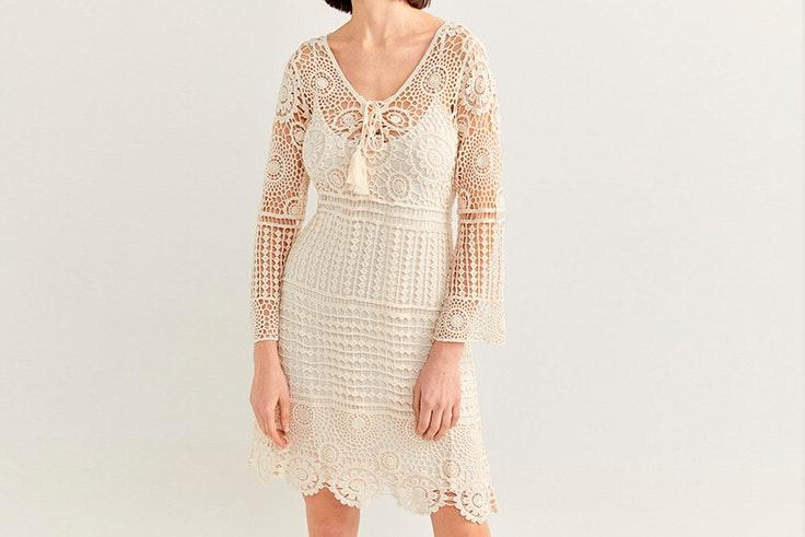 family first springfield more than ever colección primavera verano 2020 vestido crochet blanco