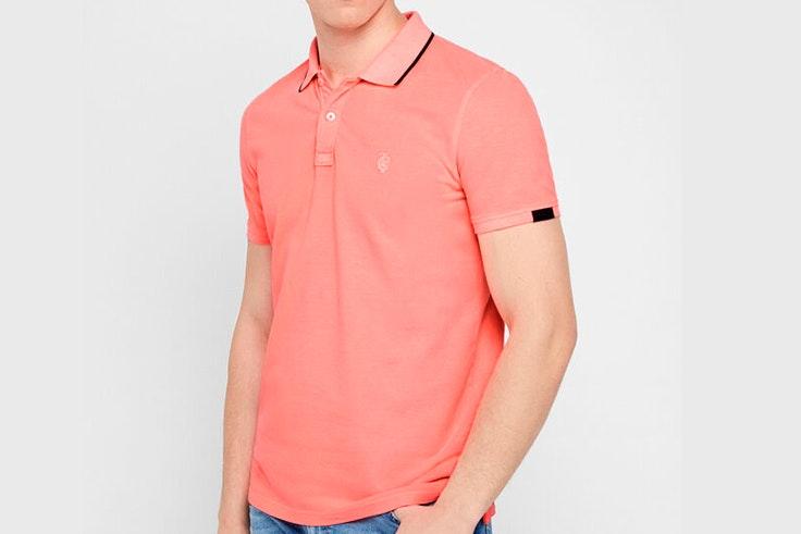 todos volvemos mejores cortefiel verano 2020 Polo clásico en color rosa salmón