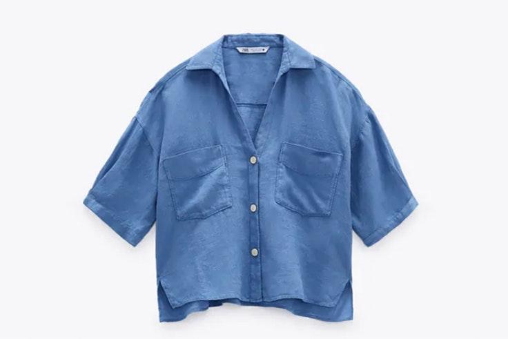 Camisa azul de Zara