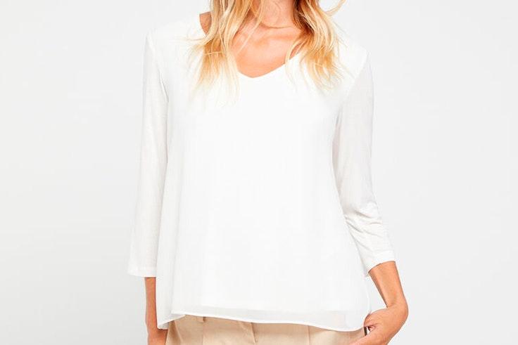 Blusa blanca de Cortefiel