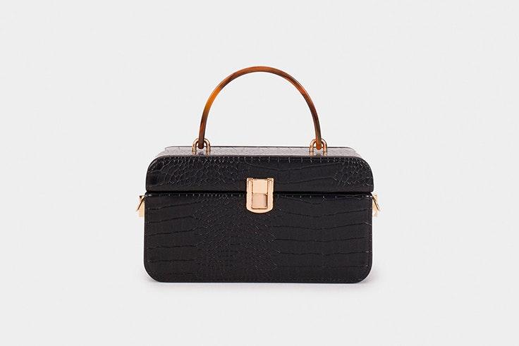 Bolso maletín en color negro de Parfois