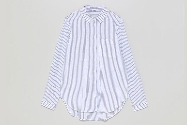 Camisa de rayas en color azul de Lefties