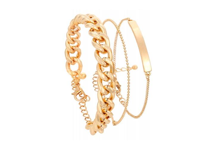Set de pulseras doradas de Bijou Brigitte