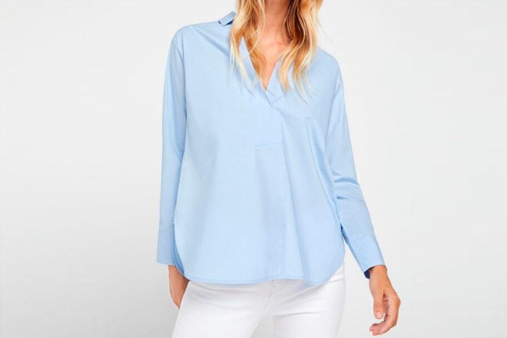 Camisa azul celeste de Cortefiel