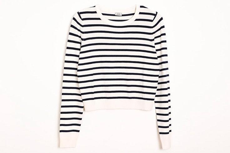 Jersey blanco y negro de rayas de Pimkie