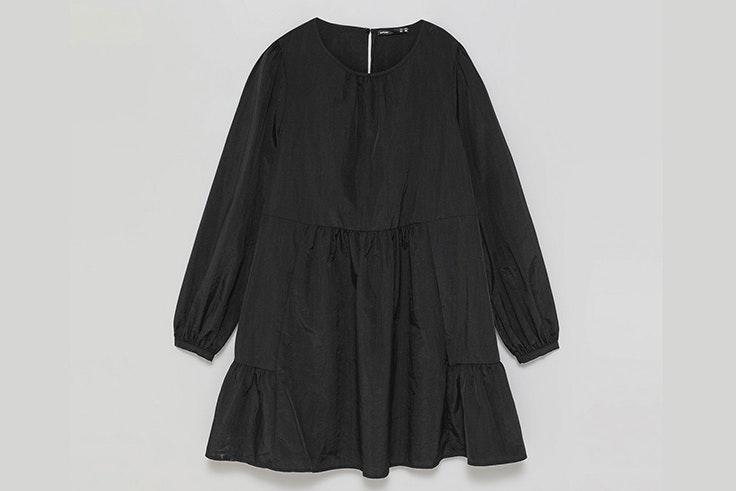 Vestido negro con volantes de Lefties