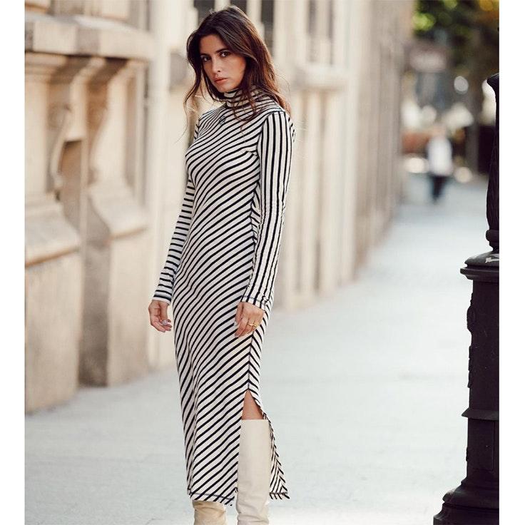 paula.loves vestidos especiales largo de rayas