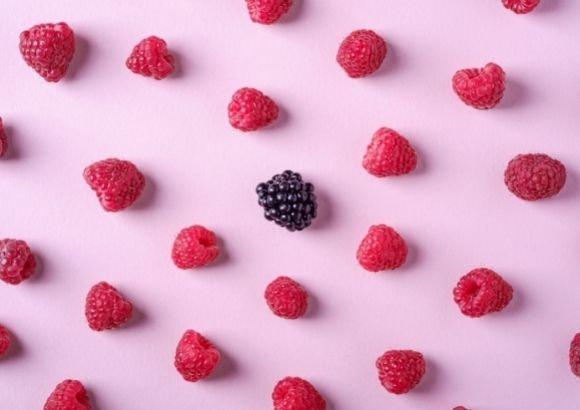 helado yogur frutas
