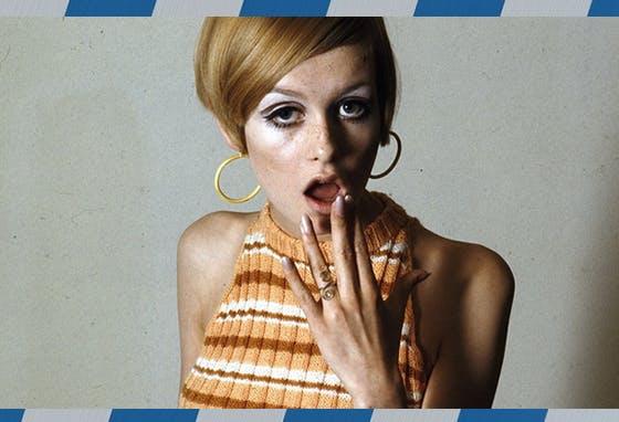 As riscas dos anos 1960/70 estão de volta, tão psicadélicas como foi essa era e ícones de estilo como a modelo inglesa Twiggy.
